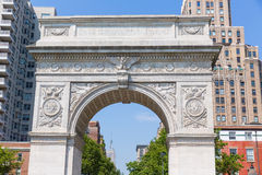 Manhattan Washington Square Park Arch NYC USA Photographie stock libre de droits