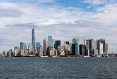 Manhattan from water Stock Image