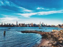 Manhattan widok od Williamsburg Obrazy Royalty Free
