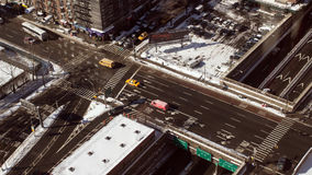 Manhattan at winter stock image