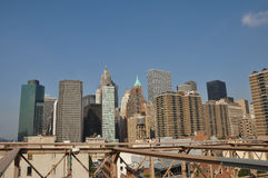 Manhattan; wolkenkrabbers; New York; De V.S. Stock Foto