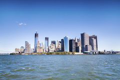 Manhattan - world's financial center royalty free stock photography