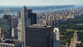 Manhattan y Central Park Imagen de archivo libre de regalías