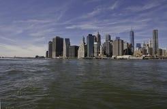 Manhattan y puente de Manhattan Foto de archivo