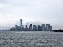 Manhattan York nowy miasto na chmurnym dniu Zdjęcia Royalty Free