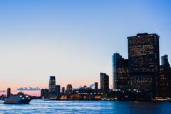 Manhattan zmierzch obrazy stock