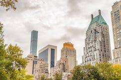 Manhattan zmierzchu linia horyzontu w jesieni, Miasto Nowy Jork Fotografia Royalty Free