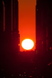 Manhattanhenge Royalty Free Stock Photos