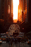 Manhattanhenge Stock Photography