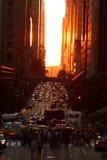 Manhattanhenge stock photography