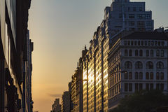 Manhattanhenge Sunset in New York City. Manhattanhenge solstice sunset in New York City Stock Photography