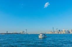 manhattanie, nowa linia horyzontu York USA Zdjęcia Royalty Free