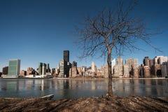 Manhattanin våren Arkivfoto