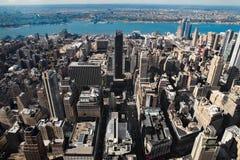 Manhattans Luftaufnahme Stockbild