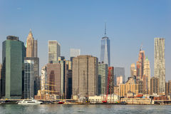 Manhattans waterfront in New York Royalty Free Stock Image