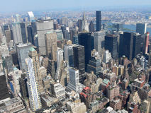 Manhatten as seen from Empire State building Royalty Free Stock Photos