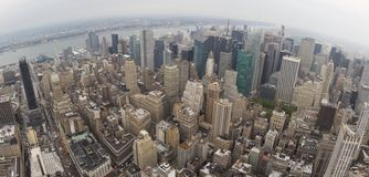 Wide Aerial View of Manhatten Royalty Free Stock Photo