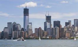 Manhatten i New York Arkivbild