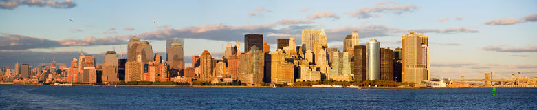 Manhatten from ship Stock Images