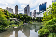 Manhatten skyline from central park Stock Image