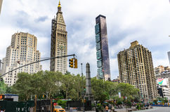Manhatten Skyline from Royalty Free Stock Photography