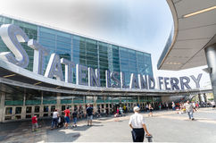Manhatten staten island ferry terminal Royalty Free Stock Images