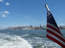 Manhatten. View of Manhattan from the circle cruise, New York Royalty Free Stock Photos