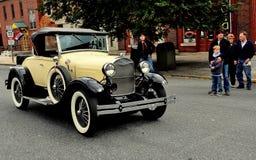 Manheim, PA: De Auto van de Vinatageopen tweepersoonsauto Royalty-vrije Stock Foto