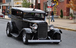 Manheim, PA: Vintage 1930's Automobile stock photography