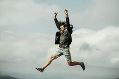 Manhipsteren hoppar Royaltyfria Foton