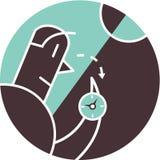 Manholdingkompass Vektor Illustrationer