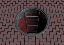 Manhole royalty free stock photos