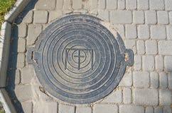 manhole Fotografering för Bildbyråer