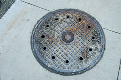 Manhole. City manhole Stock Images
