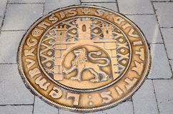 Manhole art stock photos
