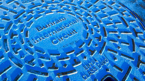 Manhole of Chang International Circuit. royalty free stock image