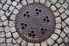 Manhole Cover Stock Image