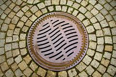 Manhole Cover Royalty Free Stock Photos