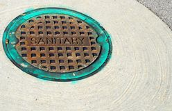 Manhole cover Stock Photography
