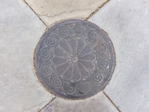 Manhole Cover in Charleston, South Carolina Stock Images