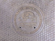 Manhole Cover in Charleston, South Carolina Royalty Free Stock Photo