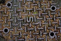 Manhole cover. Royalty Free Stock Photos