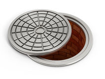 Manhole cover lid Stock Photo