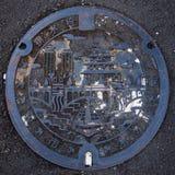 Manhole Cover in Osaka stock photos