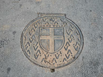 Manhole cover in Pula. Stock Image