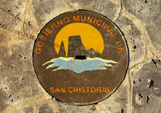 Manhole Cover, San Cristobal Royalty Free Stock Photography