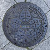 Manhole cover in Tokyo Royalty Free Stock Photos