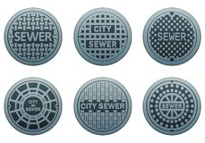 Manhole Covers Stock Photo