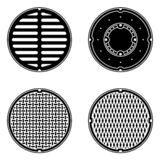 Manhole Covers And Lids Royalty Free Stock Photos