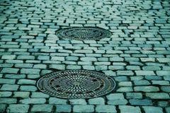 Manhole Covers, Gulli, Gullideckel Royalty Free Stock Photo